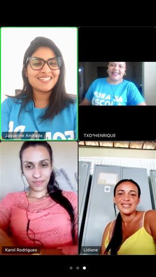Servidores da SEME interagiram na reunião online